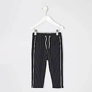 Mini boys navy pinstripe trousers
