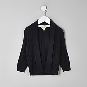 Mini boys navy chevron cardigan