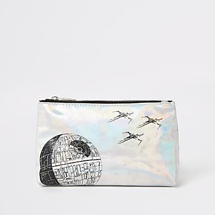 Kids silver Star Wars toiletry bag