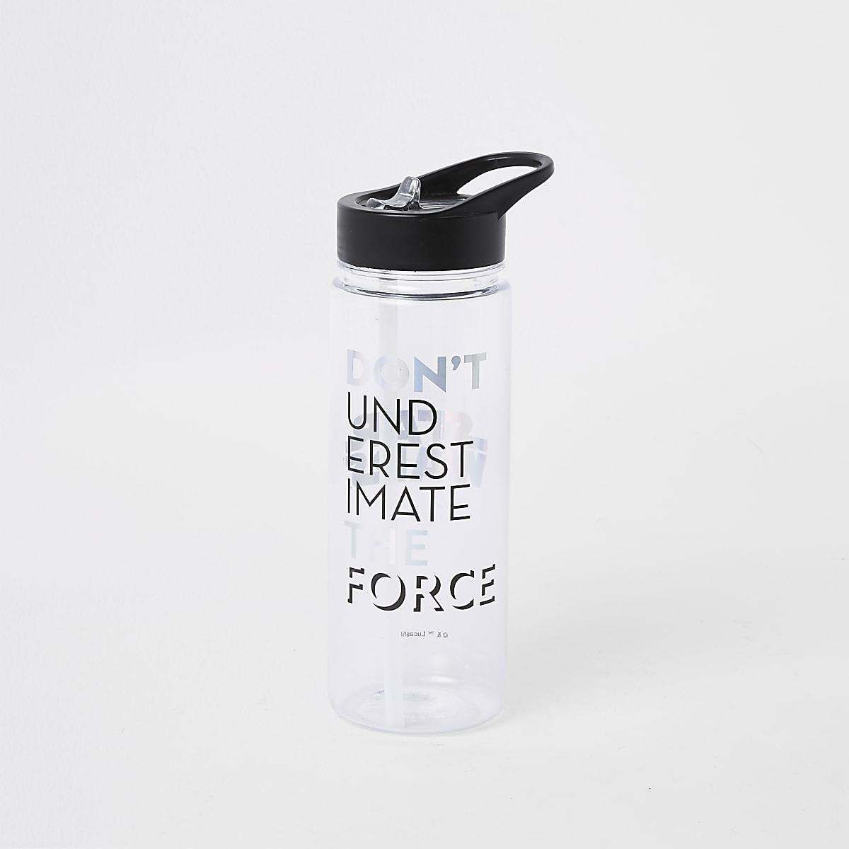 Boys black Star Wars water bottle