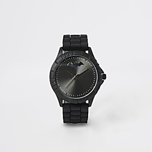 Boys black rubber strap Batman watch