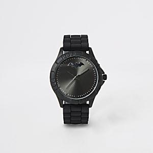 Zwarte Batman-horloge met rubberen bandje voor jongens