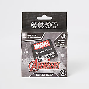 Boys black Marvel Avengers trivia quiz pack