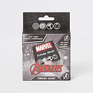 Zwarte triviaquiz-set van Marvel Avengers voor jongens