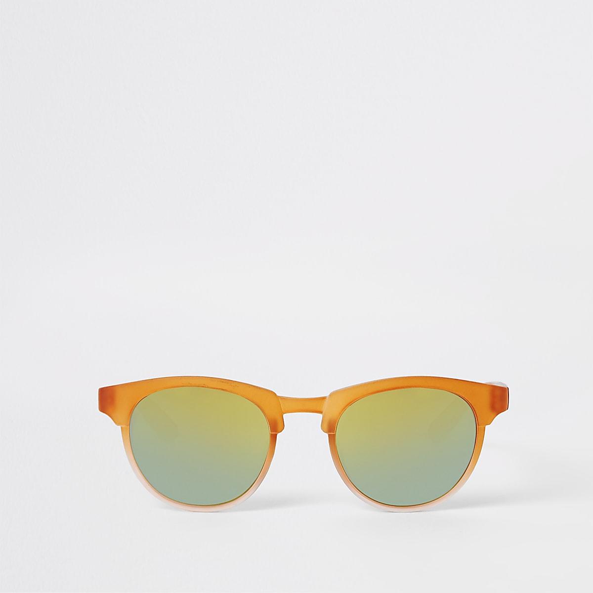 Mini boys orange retro sunglasses