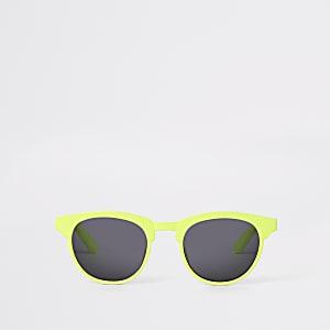 Lunettes de soleil vert fluo plates pour mini garçon
