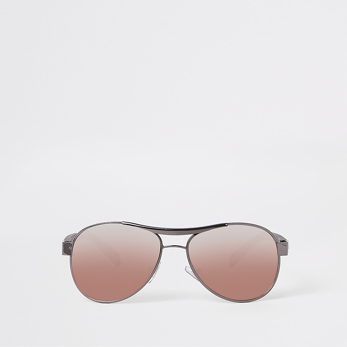 Boys black aviator pink lens sunglasses