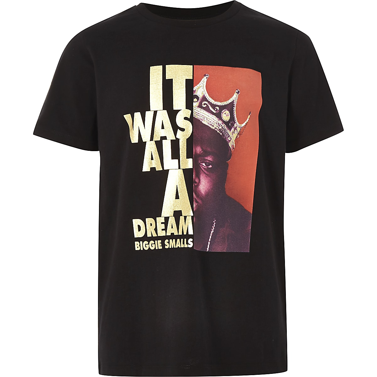Boys black 'it was all dream' T-shirt