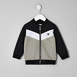 Mini boys black RI chevron bomber jacket