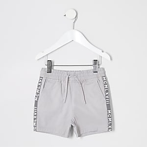 Mini boys grey pull on shorts