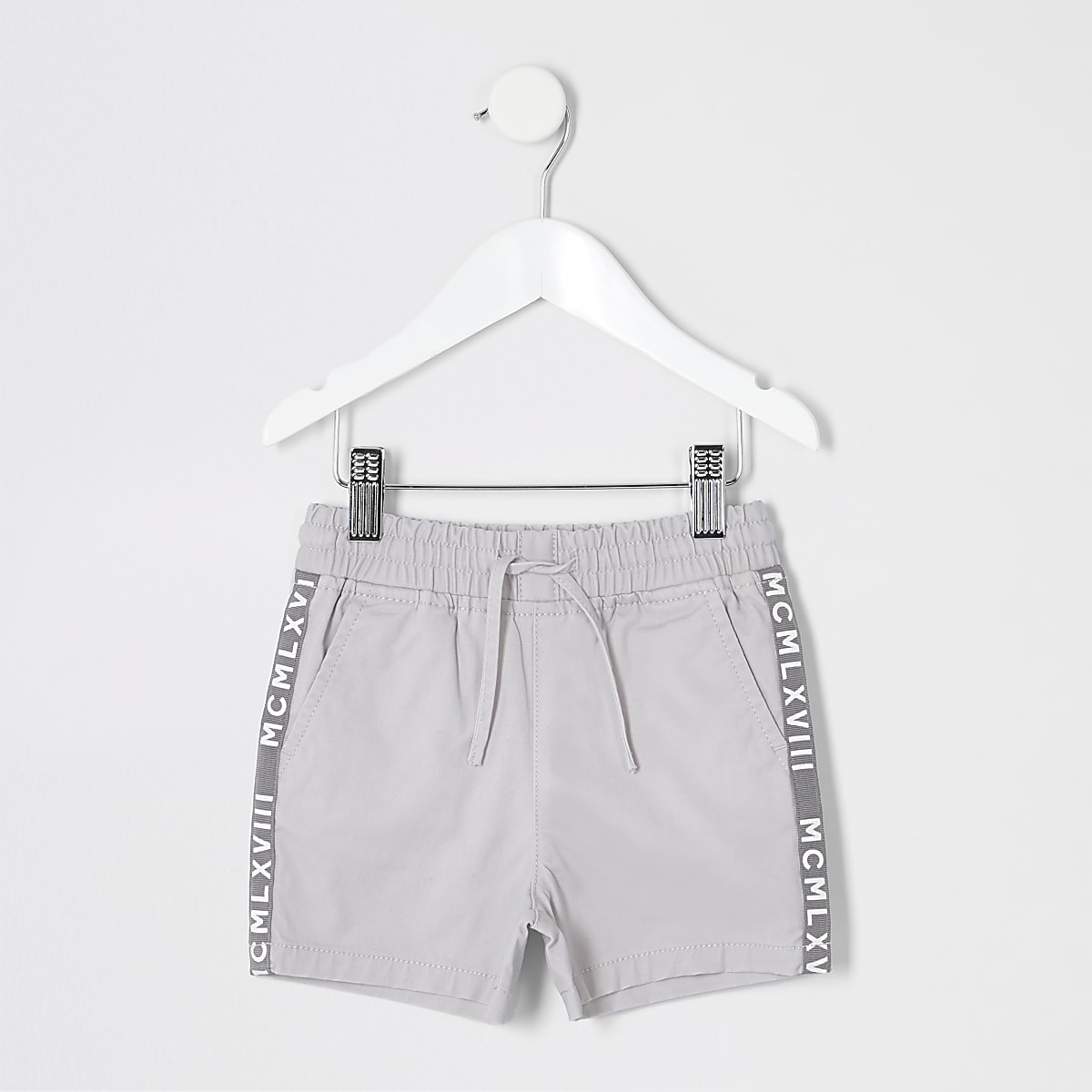 Mini boys grey pull on shorts