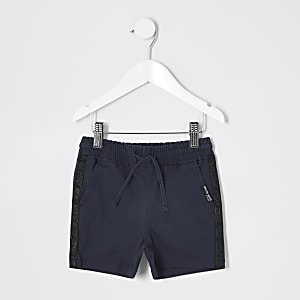 Mini boys navy pull on shorts