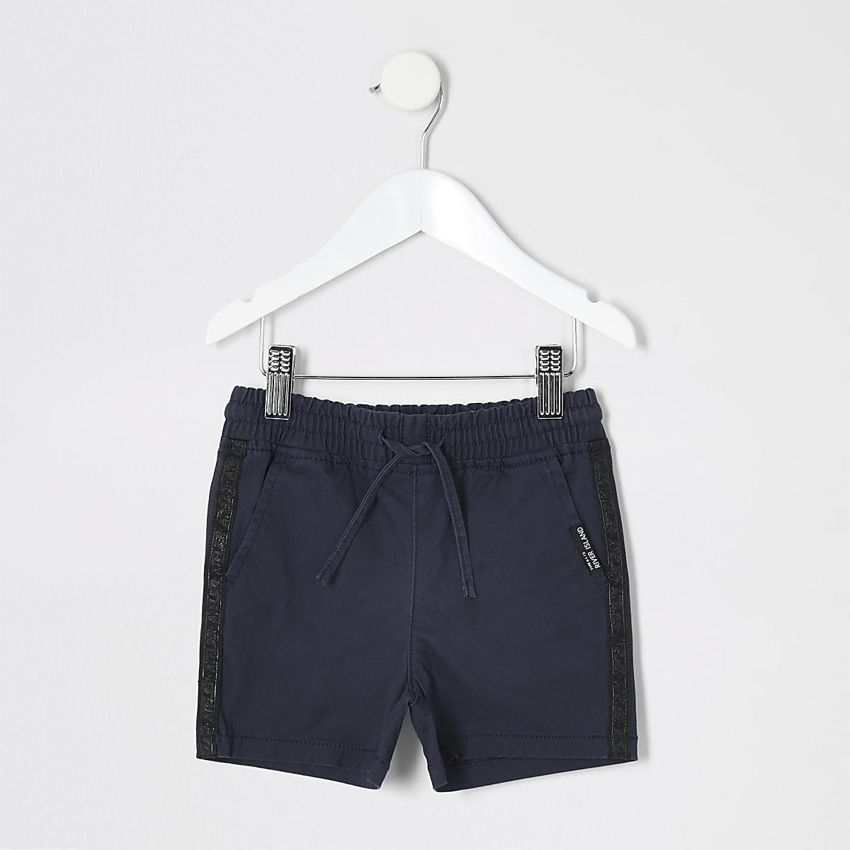 Mini boys navy pull on shorts
