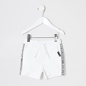 Mini boys white pull on shorts