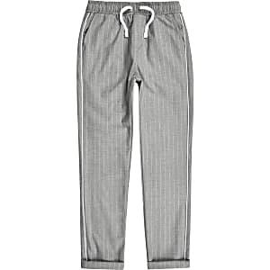 Boys grey pinstripe pants
