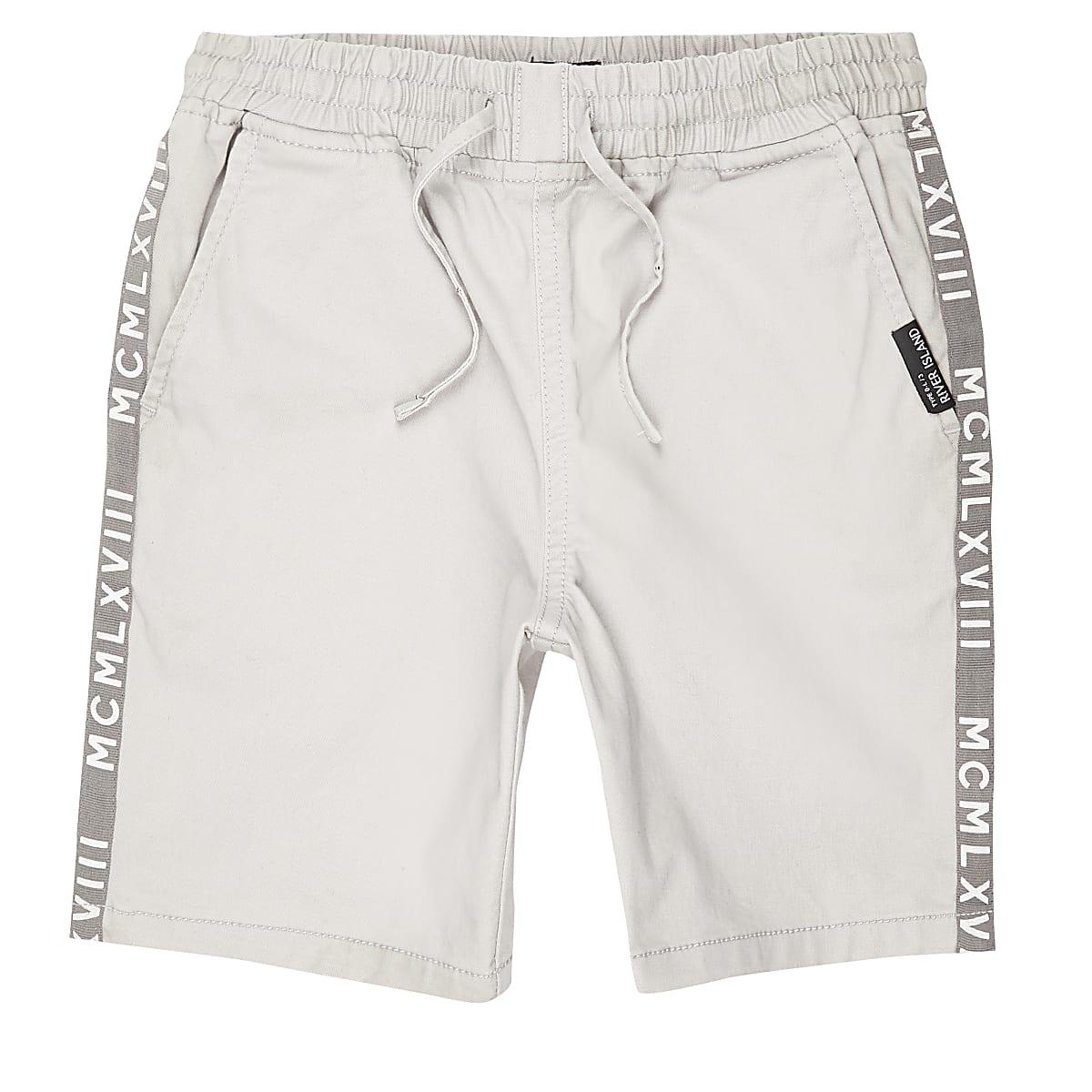 Boys grey straight fit shorts