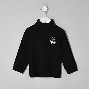 Mini boys R9 black roll neck top
