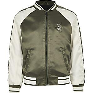 Boys khaki RI bomber jacket