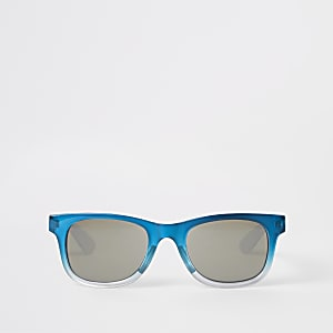 Boys blue ombre retro sunglasses