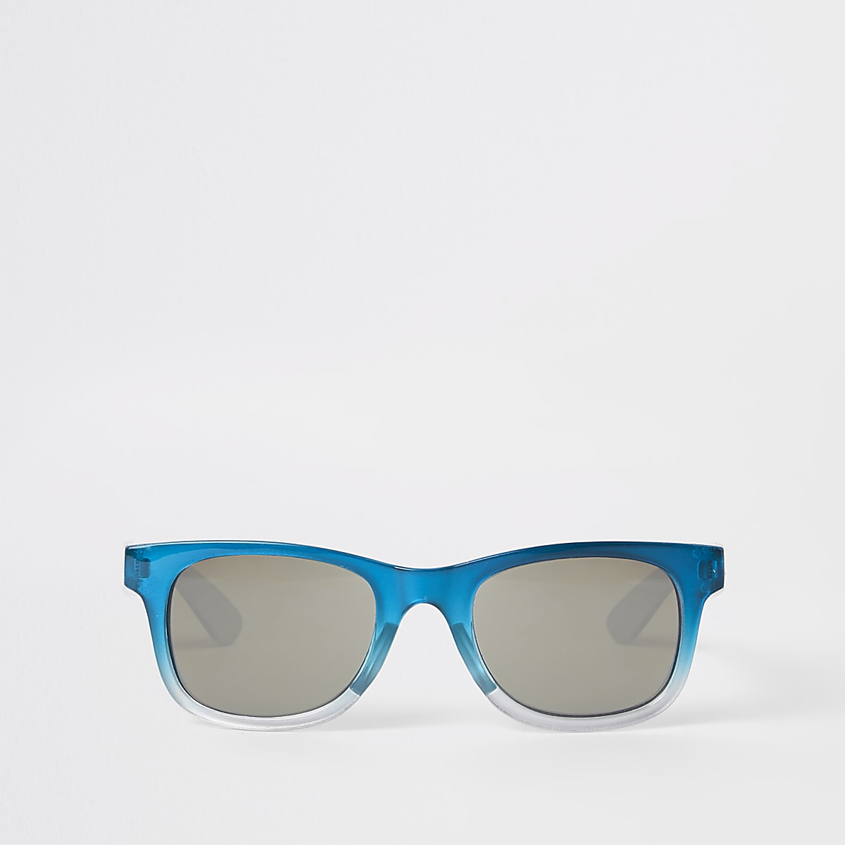 Boys blue ombre retro sunglasses