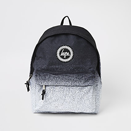 Boys Hype black ombre backpack