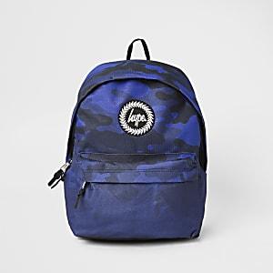 Hype - Marineblauwe rugzak met camouflageprint voor jongens