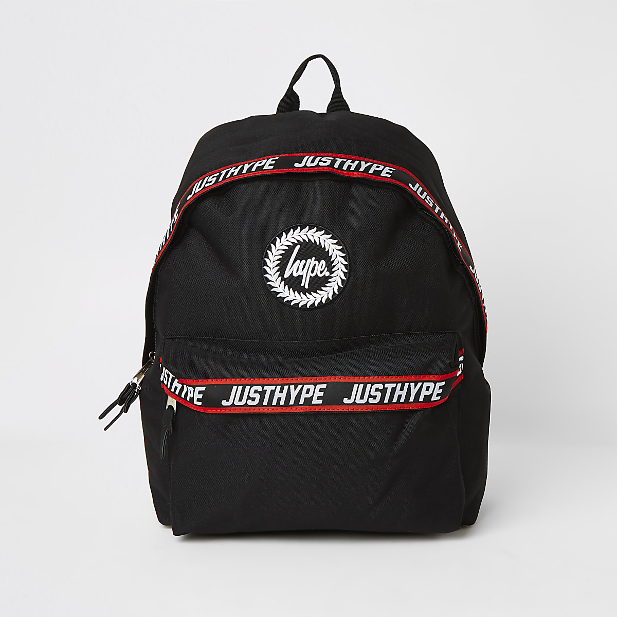Boys Hype black tape backpack