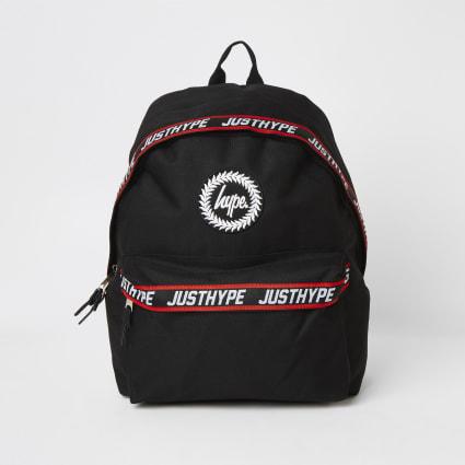 Boys Hype black tape backpack