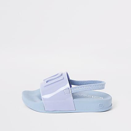 Mini kids blue RI jelly sliders