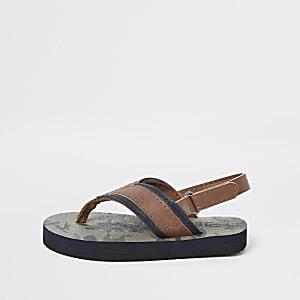 Flip Flops in Khaki