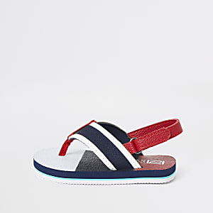 Mini boys navy stripe flip flop sandal