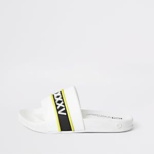 Sandales en plastique imprimées blanches pour garçon