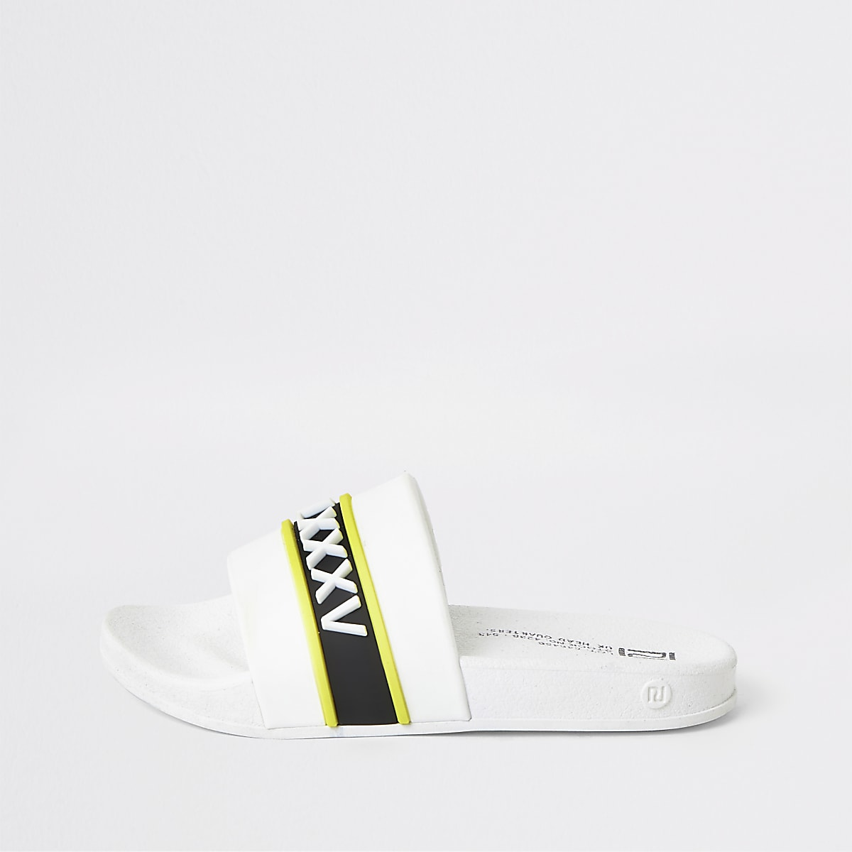 Boys white printed jelly sandals