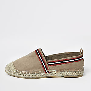 Boys light brown espadrille plimsolls