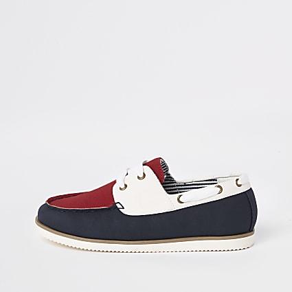 Boys navy boat shoes