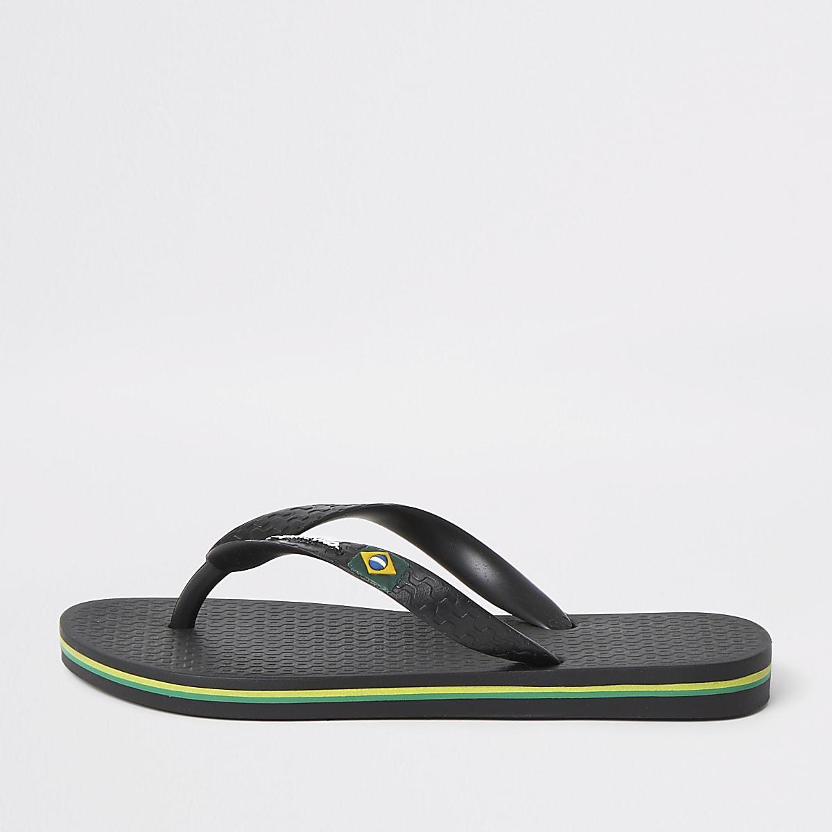 Boys Ipanema black Brazil flip flops