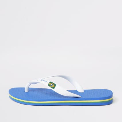 Boys Ipanema navy Brazil flip flops