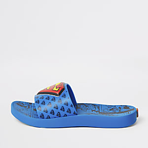 Kids Ipanema blue Superman sliders