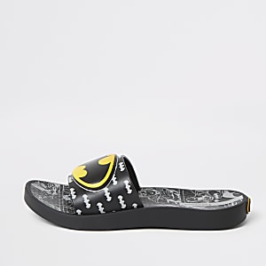 Kids Ipanema black Batman sliders