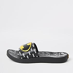 Zwarte slippers met Batman-print voor kinderen