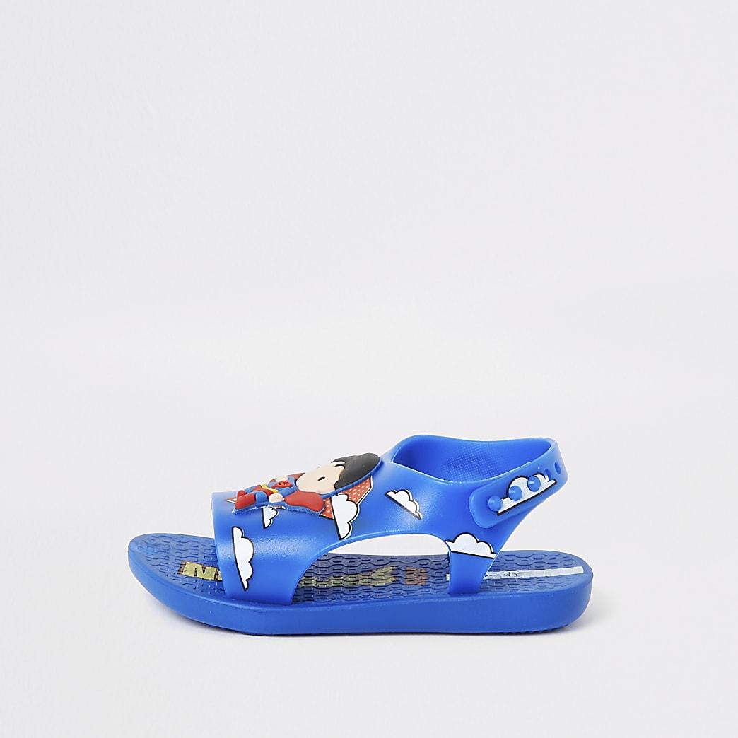 Mini - Ipanema - Blauwe Superman-slippers voor jongens