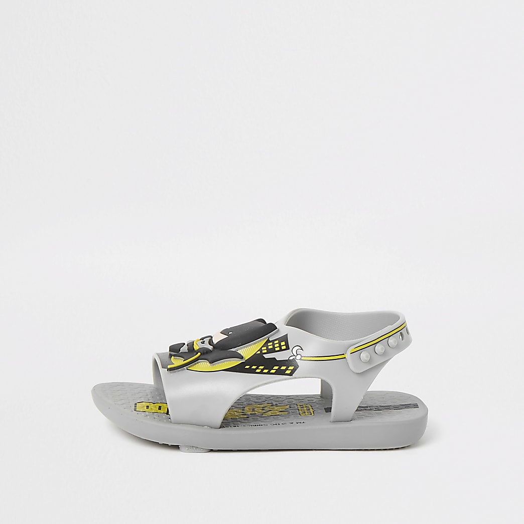 Mini boys Ipanema grey Batman sliders