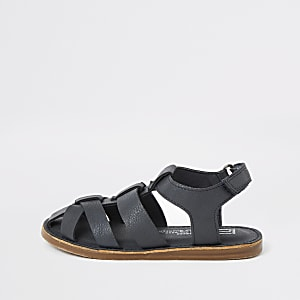 Mini boys navy fisherman sandal