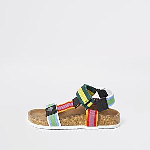 Sandales multicolores avec semelle en liège mini garçon