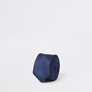 Felblauwe stropdas voor jongens