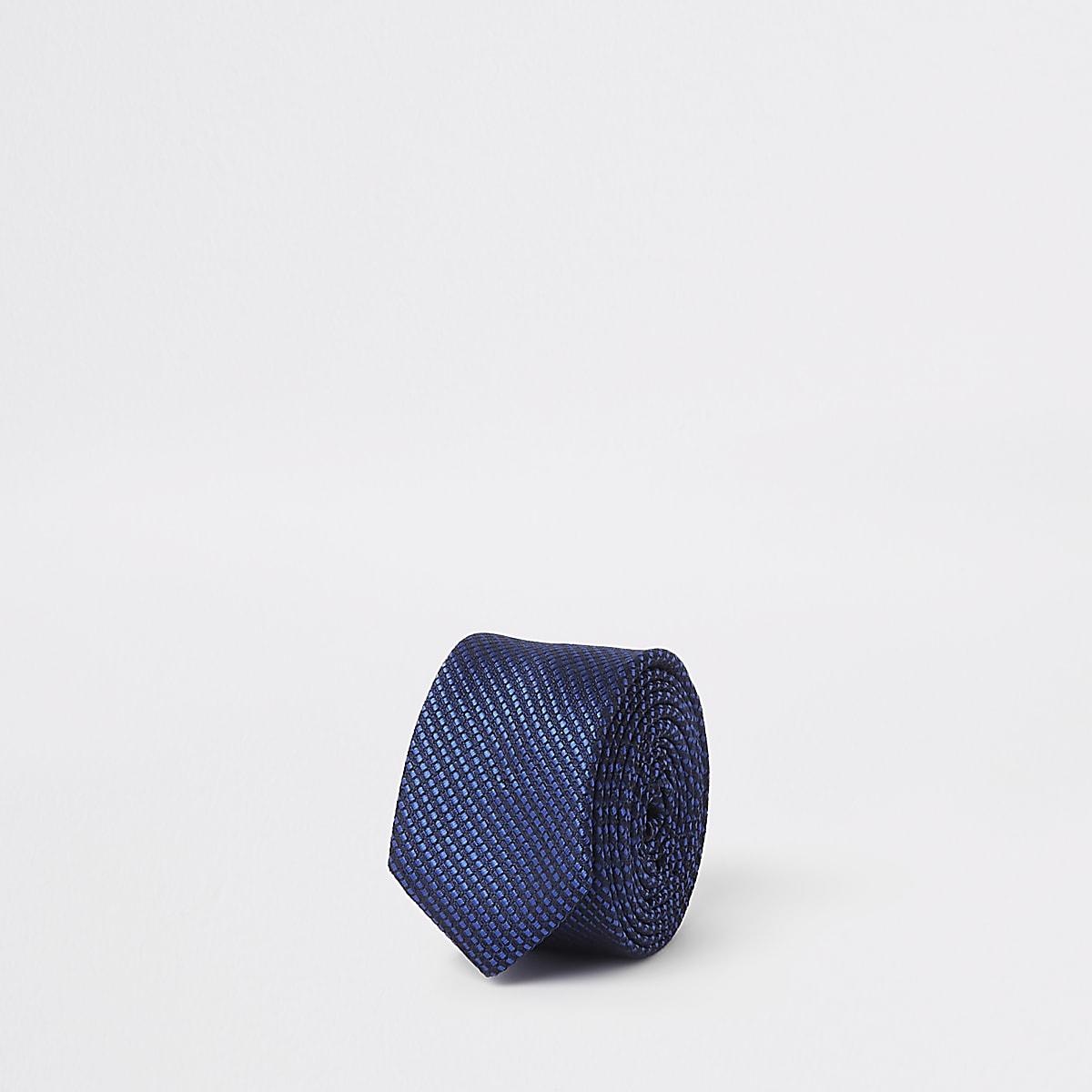 Boys bright blue tie