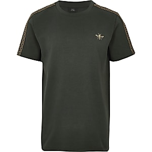 Boys khaki wasp embroidered T-shirt