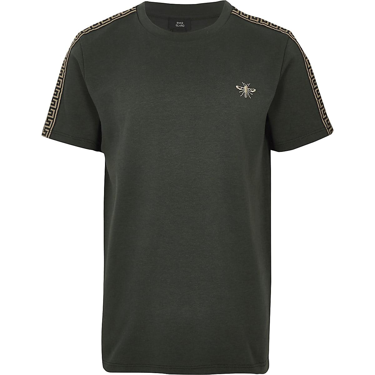 Boys khaki wasp embroidered T-shirt
