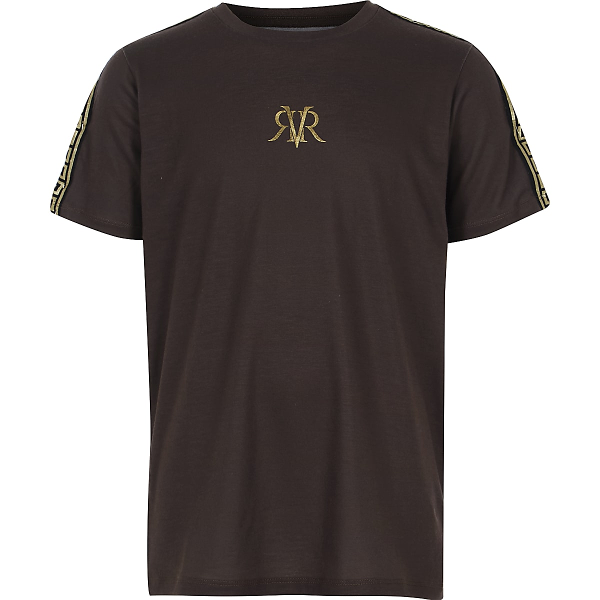 Boys brown RI tape T-shirt