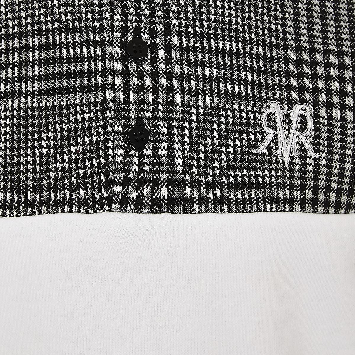 b95ef3faf Boys grey check blocked polo shirt - Polo Shirts - boys